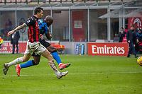 milan-inter - milano 21 febbraio 2021 - 23° giornata Campionato Serie A - nella foto: lukaku segna gol 0-3