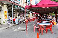 Ipoh, Malaysia.  Outdoor Restaurant.