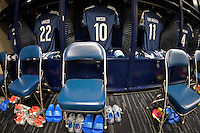 Houston, TX - Tuesday June 21, 2016: Argentina locker room prior to a Copa America Centenario semifinal match between United States (USA) and Argentina (ARG) at NRG Stadium.