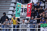 TORINO ITALY- October 2 <br /> Stadio Olimpico Grande Torino<br /> Fc Juventus supporter<br /> during the Serie A match between Fc  Torino and Juventus Fc at Stadio Olimpico on October 2, 2021 in Torino, Italy.