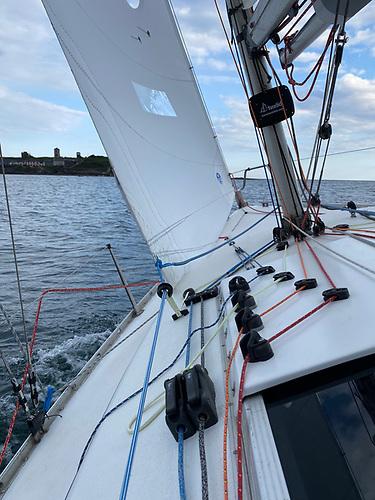"The North Sails GS-1 jib on ""North Star"""