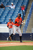 Will Benson (21) of The Westminster Schools in Atlanta, Georgia playing for the Baltimore Orioles scout team during the East Coast Pro Showcase on July 30, 2015 at George M. Steinbrenner Field in Tampa, Florida.  (Mike Janes/Four Seam Images)