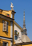 Italien, Piemont, Hauptstadt Turin: Innenhof, Museo di Arti Decorative, Mole Antonelliana | Italy, Piedmont, capital Torino: courtyard, Museo di Arti Decorative, Mole Antonelliana