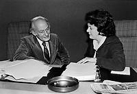 René Lévesque et la ministre Jocelyne Ouellette<br /> , le 29 août 1979<br /> <br /> Photographe : Jacques Thibault - Agence Quebec Presse