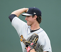 Starting pitcher Bryan Mitchell (17) of the Charleston RiverDogs, a New York Yankees affiliate, prior to a game against the Greenville Drive on June 24, 2012, at Fluor Field at the West End in Greenville, South Carolina. Charleston won, 7-5. (Tom Priddy/Four Seam Images).