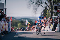 Julian Alaphilippe (FRA/Quick Step Floors) wins the final battle (and thus the race) up the Mur de Huy<br /> <br /> 82nd Flèche Wallonne 2018 (1.UWT)<br /> 1 Day Race: Seraing - Huy (198km)