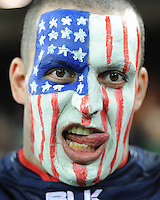 07 October 2015: A USA fan during Match 31 of the Rugby World Cup 2015 between South Africa and USA - Queen Elizabeth Olympic Park, London, England (Photo by Rob Munro/CSM)