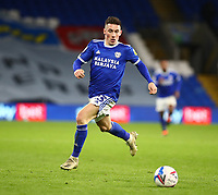 26th December 2020; Cardiff City Stadium, Cardiff, Glamorgan, Wales; English Football League Championship Football, Cardiff City versus Brentford; Harry Wilson of Cardiff City breaks along the wing