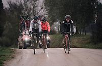 Greg Van Avermaet (BEL/BMC) & teammates during reconnaissance of the 12th Strade Bianche 2018