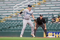 Tampa Tarpons first baseman Tyler Hardman (17) during Game One of the Low-A Southeast Championship Series against the Bradenton Marauders on September 21, 2021 at LECOM Park in Bradenton, Florida.  (Mike Janes/Four Seam Images)