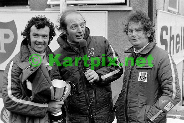 Cyd Williams, Nick Brittan and Andrew Marriott<br /> Yellow Pages Championship Round<br /> Brands Hatch, 28May1972