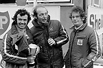Cyd Williams, Nick Brittan and Andrew Marriott<br /> Yellow Pages Championship Round<br /> Brands Hatch, 28 May 1972