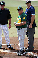February 21, 2010:  Manager Tony Rossi (40) of the Siena Saints during a game at Melching Field at Conrad Park in DeLand, FL.  Siena lost to Stetson by the score of 8-7.  Photo By Mike Janes/Four Seam Images