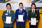 Boys Golf finalists James Beale, Scott McAlpine & Cameron Jones. ASB College Sport Auckland Secondary School Young Sports Person of the Year Awards held at Eden Park on Thursday 12th of September 2009.