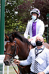 August 15, 2021, Deauville (France) - Poetic Flare (6) with Kevin Manning abroad after the Prix du Haras de Fresnay-Le-Buffard Jaques Le Marois (Gr I) at Deauville-La Touques Racecourse on August 15 in Deauville. [Copyright (c) Sandra Scherning/Eclipse Sportswire)]