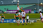 Jack Barry, Kerry in action against Damien Comer, Galway during the Allianz Football League Division 1 South Round 1 match between Kerry and Galway at Austin Stack Park in Tralee.