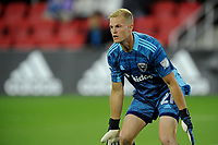 WASHINGTON, DC - MAY 13: Jon Kempin #21 of D.C. United during a game between Chicago Fire FC and D.C. United at Audi FIeld on May 13, 2021 in Washington, DC.