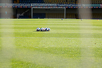 A general view through the goal net pre match during Southend United vs Cheltenham Town, Sky Bet EFL League 2 Football at Roots Hall on 17th October 2020