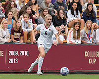 NEWTON, MA - AUGUST 29: Eabha O'Mahony #6 of Boston College brings the ball forward during a game between University of Connecticut and Boston College at Newton Campus Soccer Field on August 29, 2021 in Newton, Massachusetts.