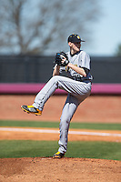 Kennesaw State Owls starting pitcher Gabe Friese (29) in action against the Winthrop Eagles at the Winthrop Ballpark on March 15, 2015 in Rock Hill, South Carolina.  The Eagles defeated the Owls 11-4.  (Brian Westerholt/Four Seam Images)