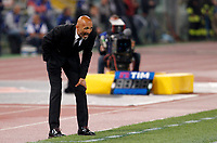 Calcio, Serie A: Roma vs Juventus. Roma, stadio Olimpico, 14 maggio 2017. <br /> Roma's coach Luciano Spalletti shouts to his players during the Italian Serie A football match between Roma and Juventus at Rome's Olympic stadium, 14 May 2017. Roma won 3-1.<br /> UPDATE IMAGES PRESS/Riccardo De Luca