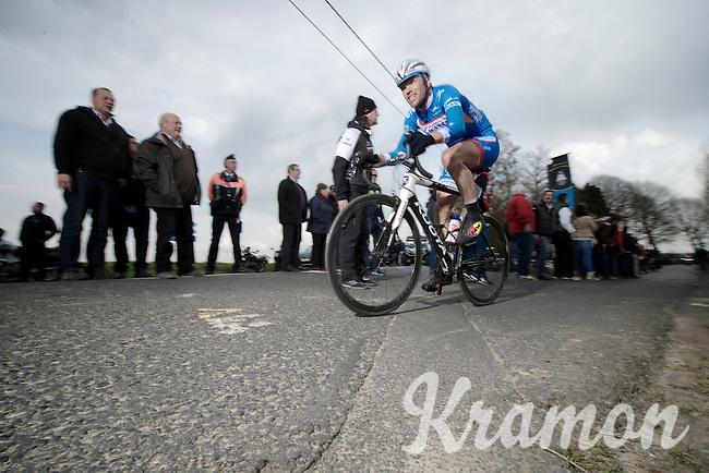 Frederik Veuchelen (BEL/Wanty-GroupeGobert) coming off the Eikenberg<br /> <br /> Dwars Door Vlaanderen 2014
