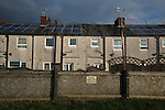 Prescot Cables 2 Brighouse Town 1, 13/02/2016. Hope Street, Northern Premier League. A warning sign on a perimeter fence at the stadium pictured as Prescot Cables take on Brighouse Town in a Northern Premier League division one north fixture at Valerie Park. Founded in 1884, the 'Cables' in their name came from the largest local employer, British Insulated Cables and they have played in their current ground, also known as Hope Street, since 1906. Prescott won the match 2-1 watched by a crowd of 189. Photo by Colin McPherson.