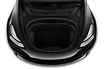 Car stock 2019 Tesla Model-3 Performance 4 Door Sedan engine high angle detail view
