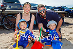 Twins Shay and Cole Clark enjoying their first ever trip to the beach in Castlegregory on Saturday with their parents Karen and Matt Clark.