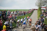 early breakaway group up the steep Gulperberg<br /> <br /> Amstel Gold Race 2014