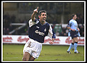 25/1/03       Copyright Pic : James Stewart                  .File Name : stewart-falkirk v hearts 05.OWEN COYLE CELEBRATES AFTER HE SCORES FALKIRK'S SECOND GOAL........James Stewart Photo Agency, 19 Carronlea Drive, Falkirk. FK2 8DN      Vat Reg No. 607 6932 25.Office : +44 (0)1324 570906     .Mobile : + 44 (0)7721 416997.Fax     :  +44 (0)1324 570906.E-mail : jim@jspa.co.uk.If you require further information then contact Jim Stewart on any of the numbers above.........