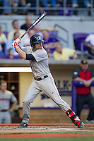 Georgia Bulldogs third baseman Hunter Cole #6 at bat during the Southeastern Conference baseball game against the LSU Tigers on March 22, 2014 at Alex Box Stadium in Baton Rouge, La. The Tigers defeated the Bulldogs 2-1. (Andrew Woolley/Four Seam Images)
