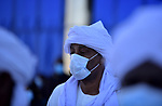 Sudanese take part in a funeral of former Sudan's prime minster Sadiq al-Mahdi in Khartoum, Sudan, Friday, Nov. 27, 2020. Al-Mahdi, Sudan's last democratically elected prime minister and leader of the country's largest political party, has died of COVID-19 in a hospital in the United Arab Emirates. Photo by faiz Abu bakr