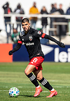 WASHINGTON, DC - FEBRUARY 29: Ulises Segura #8 of DC United on the attack during a game between Colorado Rapids and D.C. United at Audi Field on February 29, 2020 in Washington, DC.