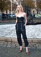 October 3 2017, PARIS FRANCE the Miu Miu<br /> Show at the Paris Fashion Week Spring Summer 2017/2018. Actress Elle Fanning arrives at the show.