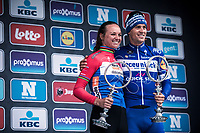 Women's Elite winner Chantal Blaak (NED/Boels Dolmans Ct) and Men Elite Winner Zdenek Stybar (CZE/Deceuninck Quick Step)<br /> <br /> 74th Omloop Het Nieuwsblad 2019 (BEL)<br /> ©kramon