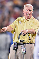 January 01, 2014:<br /> <br /> University of Central Florida Head Coach George O'Leary reacts during Tostitos Fiesta Bowl at University of Phoenix Stadium in Scottsdale, AZ. UCF defeat Baylor 52-42 to claim it's first ever BCS Bowl trophy.