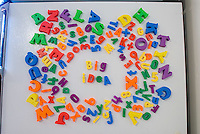 Words Big Idea in magnets on refrigerator
