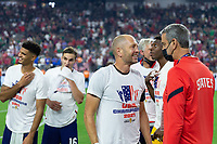 LAS VEGAS, NV - AUGUST 1: Head coach Gregg Berhalter of the United States during a game between Mexico and USMNT at Allegiant Stadium on August 1, 2021 in Las Vegas, Nevada.