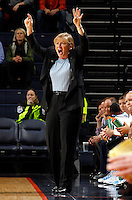 CHARLOTTESVILLE, VA- JANUARY 5: Head coach Sylvia Hatchell of the North Carolina Tar Heels coaches her team during the game against the Virginia Cavaliers on January 5, 2012 at the John Paul Jones arena in Charlottesville, Virginia. North Carolina defeated Virginia 78-73. (Photo by Andrew Shurtleff/Getty Images) *** Local Caption *** Sylvia Hatchell