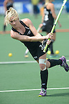 The Hague, Netherlands, June 02: Anita Punt #32 of New Zealand warms up before the field hockey group match (Group A) between Korea and New Zealand´s Black Sticks on June 2, 2014 during the World Cup 2014 at GreenFields Stadium in The Hague, Netherlands. Final score 1:0 (1:0) (Photo by Dirk Markgraf / www.265-images.com) *** Local caption ***