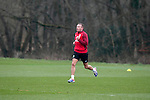 Cardiff - UK - 19th March 2013 : Craig Bellamy during a Wales football squad training session at the Vale Hotel near Cardiff ahead of their game with Scotland at the weekend.