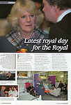 Reflections Magazine.The Duchess of Cornwall opens new wards at Chesterfield Royal Hospital..Page 78, March 2011