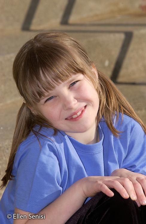 MR / Schenectady, NY / Yates School playground.Portrait of girl (6).MR: Koe1.©Ellen B. Senisi