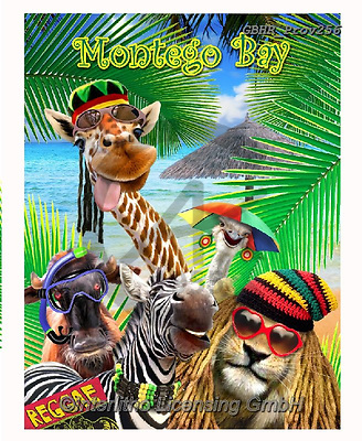 Howard, REALISTIC ANIMALS, REALISTISCHE TIERE, ANIMALES REALISTICOS, selfies,giraffe,lion,montego bay, paintings+++++,GBHRPROV256,#a#, EVERYDAY