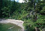 Sea Kayakers, Lummi Island, San Juan Islands, Cascadia Marine Trail, Puget Sound, Washington State, Pacific Northwest, USA