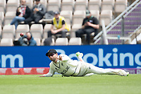 Devon Conway of New Zealand releases quickly in the field during India vs New Zealand, ICC World Test Championship Final Cricket at The Hampshire Bowl on 20th June 2021
