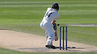 A rare play and miss from Middlesex batsman, Robbie White during Sussex CCC vs Middlesex CCC, LV Insurance County Championship Division 3 Cricket at The 1st Central County Ground on 7th September 2021