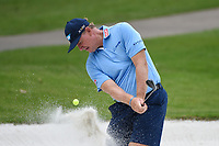 April 29th 2021, The Woodlands, Texas USA;  Ernie Els hits from the trap on 1 during the preview of the 2021 Insperity Invitational at The Woodlands Country Club on April 29, 2021 in The Woodlands, Texas.