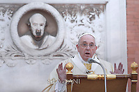 Pope Francis leads a mass on the occasion of All Saints' day  at Campo di Verano cemetery in Rome.  November 1, 2014